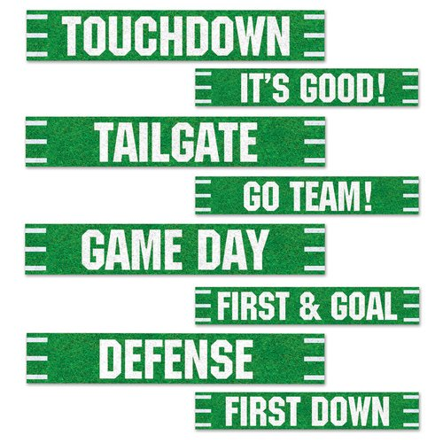 The Beistle Company 4 Piece Football Street Sign Standup Set Walmart Com Walmart Com