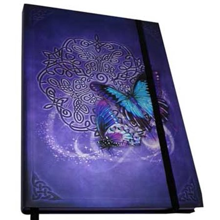"Metallic Embossed Butterflies Writing Creative Journal Diary Dream Notebook Hardcover Includes Bookmark Ribbon 160 Unlined Pages 5 1/2"" x 8"""