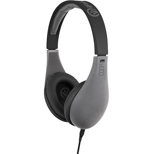 iFrogz IF-COD-GRY Coda Headphones with Mic, Gray