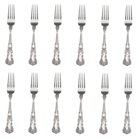 Gorham Blossom 18/10 Stainless Steel Dinner Fork (Set of Twelve)