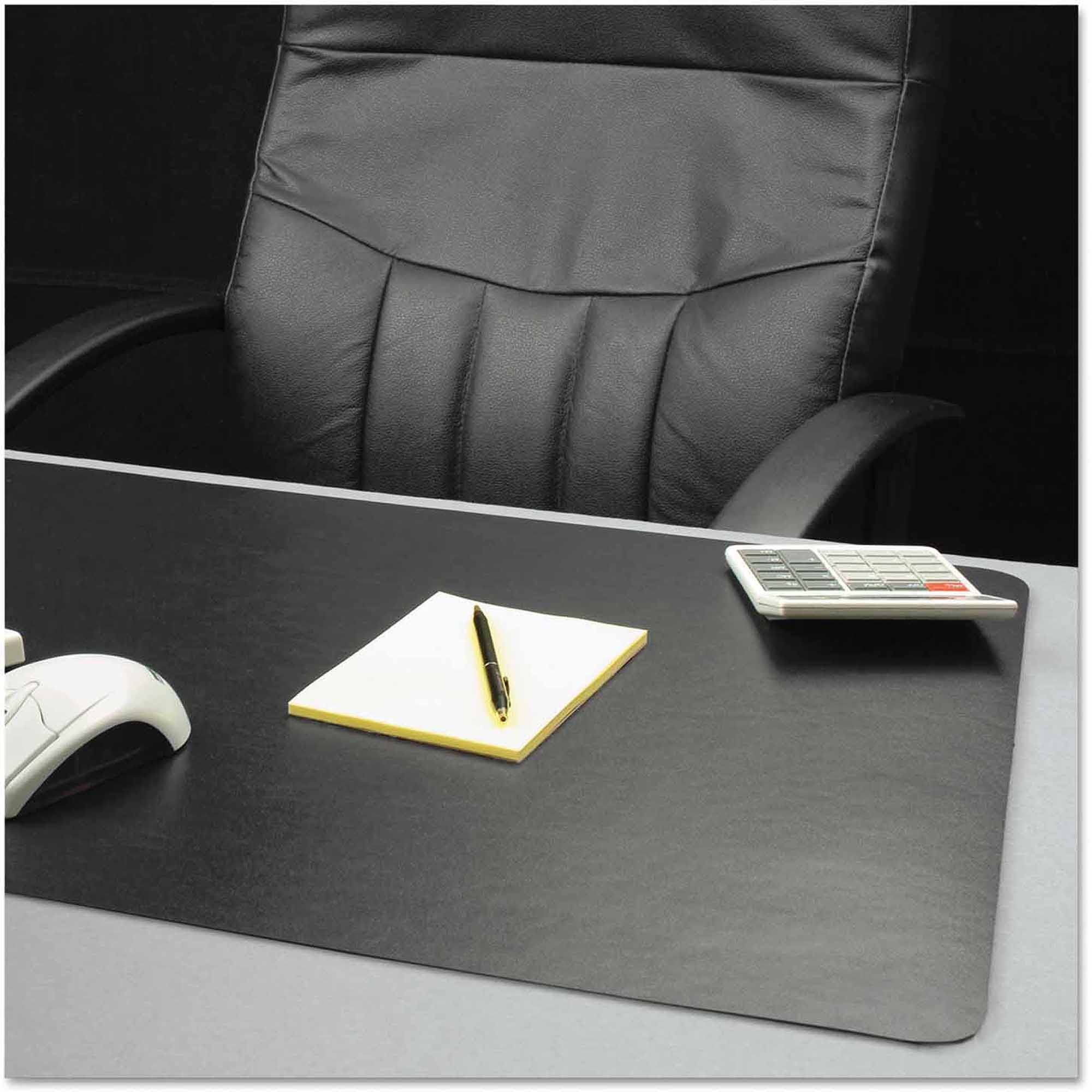 "ES Robbins Natural Origins Desk Pad, 38"" x 24"", Matte, Black"
