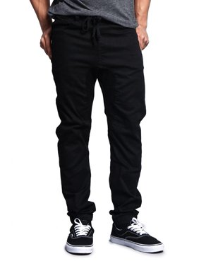 Victorious Men's Drop Crotch Jogger Twill Pants, Up to 5XL