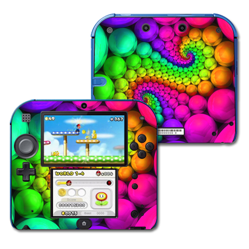 Mightyskins Protective Vinyl Skin Decal Cover for Nintendo 2DS wrap sticker skins Hallucinate