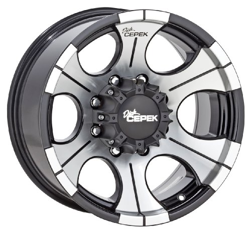 "Dick Cepek DC-2 Gloss Black Wheel with Machined Finish (16x8""/5x5"")"