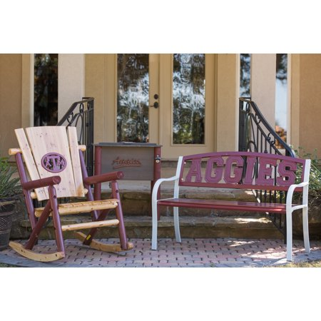 Leigh Country Collegiate Outdoor Bench With Texas A & M u0022Aggiesu0022 Metal Multi-Colored