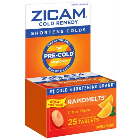 Zicam Ultra Cold Remedy Bi-Layer RapidMelts Quick Dissolve Tablets Orange Cream (Homeopathic Medicine To Increase Height After 18)