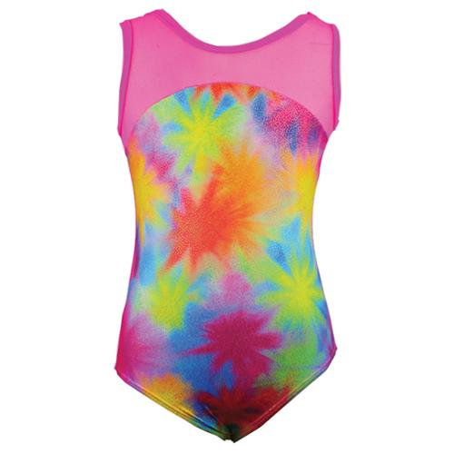 Reflectionz Girls Multi Color Starburst Print Tank Leotard 8-10