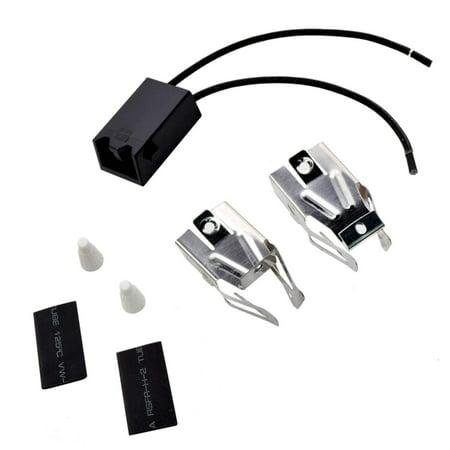 HQRP Range Top Burner Receptacle Kit Replacement for Roper C3357^0 D5257X0 D5757*0 F5907W0 F5908W0 F7107*1 F7108W0 F7907W0 F7908W0 FEP320BL0 FES370VW0 S5007W0 Oven Stove plus HQRP