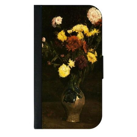 Artist Vincent Van Goghs Vase Of Carnations And Zinnias Wallet