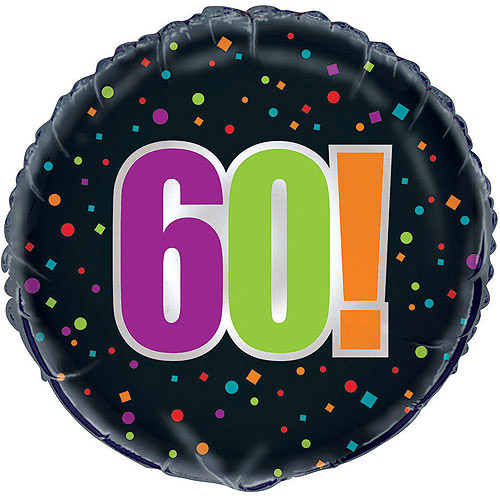 "18"" Foil 60th Birthday Cheer Balloon"