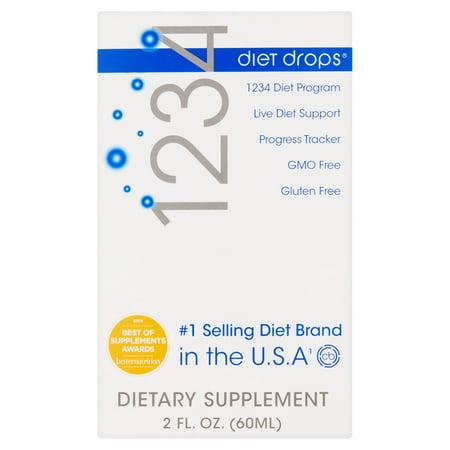 Creative Bioscience 1234 Diet Drops Dietary Supplement  2 Fl Oz