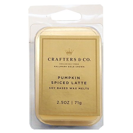 Crafters & Co Hallmark Soy Based Wax Melts Tart Bar, Pumpkin Spiced Latte 2.5oz