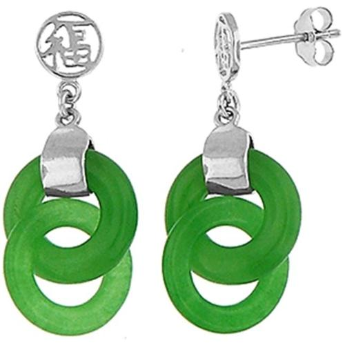 Doma Jewellery MAS01220-Jad Sterling Silver Earrings - Jade