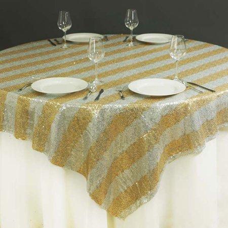 (Efavormart LUXURY COLLECTION Duchess Sequin Table Overlay 72