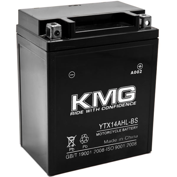KMG YTX14AHL-BS Battery For Triumph 900 Thunderbird 2002-2003 Sealed Maintenace Free 12V Battery High Performance SMF OEM Replacement Maintenance Free Powersport Motorcycle ATV Snowmobile Watercraft