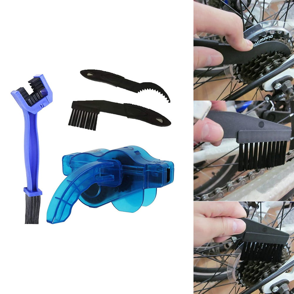 Mountain Bike Bicycle Chain Cleaner Cycling Cleaning Brushes Wash Tool Kit