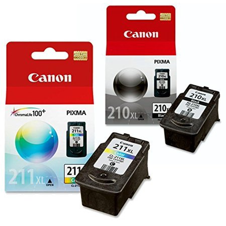 Canon PG-210 XL and CL-211 XL Ink Pack Bundle, Compatible to MP495,MP280,MP490,MP480,MP270,MP240, MX420,MX410,MX350,MX340 and MX330 ()