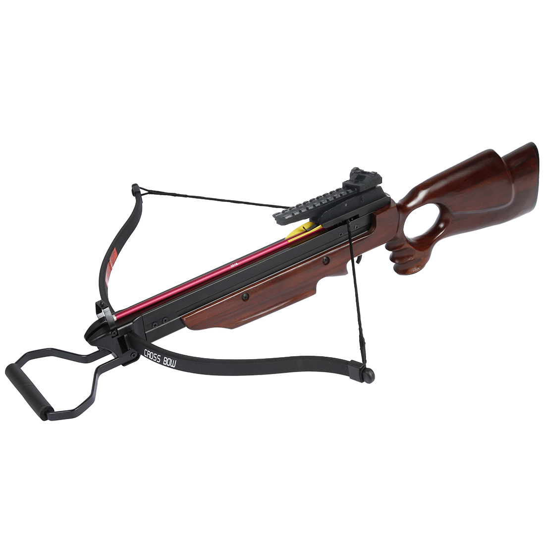 150 lb Black   Wood   Camouflage Camo Hunting Crossbow Archery Bow +7 Arrows + Rope Cocking Device 180 80 50 lbs by