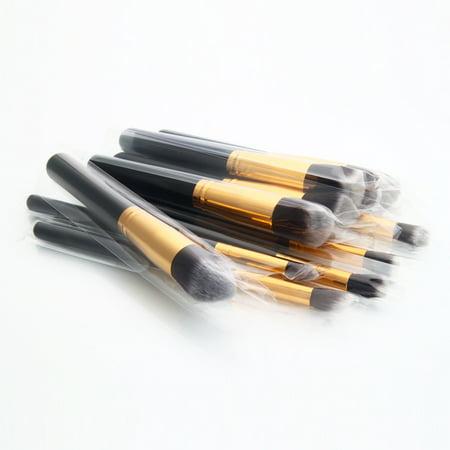 Zimtown 10Pc Makeup Brushes Tool Set Cosmetic Eyeshadow Face Powder Foundation Lip Brush - image 2 of 7