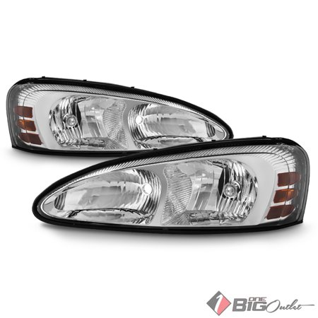 2004-2008 Grand Prix Chrome Replacement Headlights Driver+Passenger LH+RH Pair L+R 2005 2006 2007