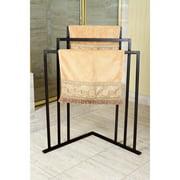 Kingston Brass Oil Rubbed Bronze 3-tier Iron Construction Corner Towel Rack