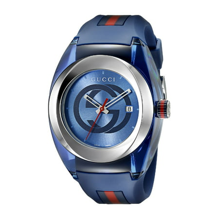 Gucci Sync XXL Blue Rubber Unisex Watch YA137104