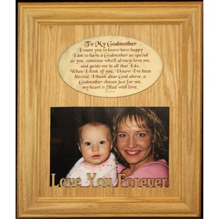 8x10 To My Godmother Photo Poetry Frame Holds A Landscape 5x7
