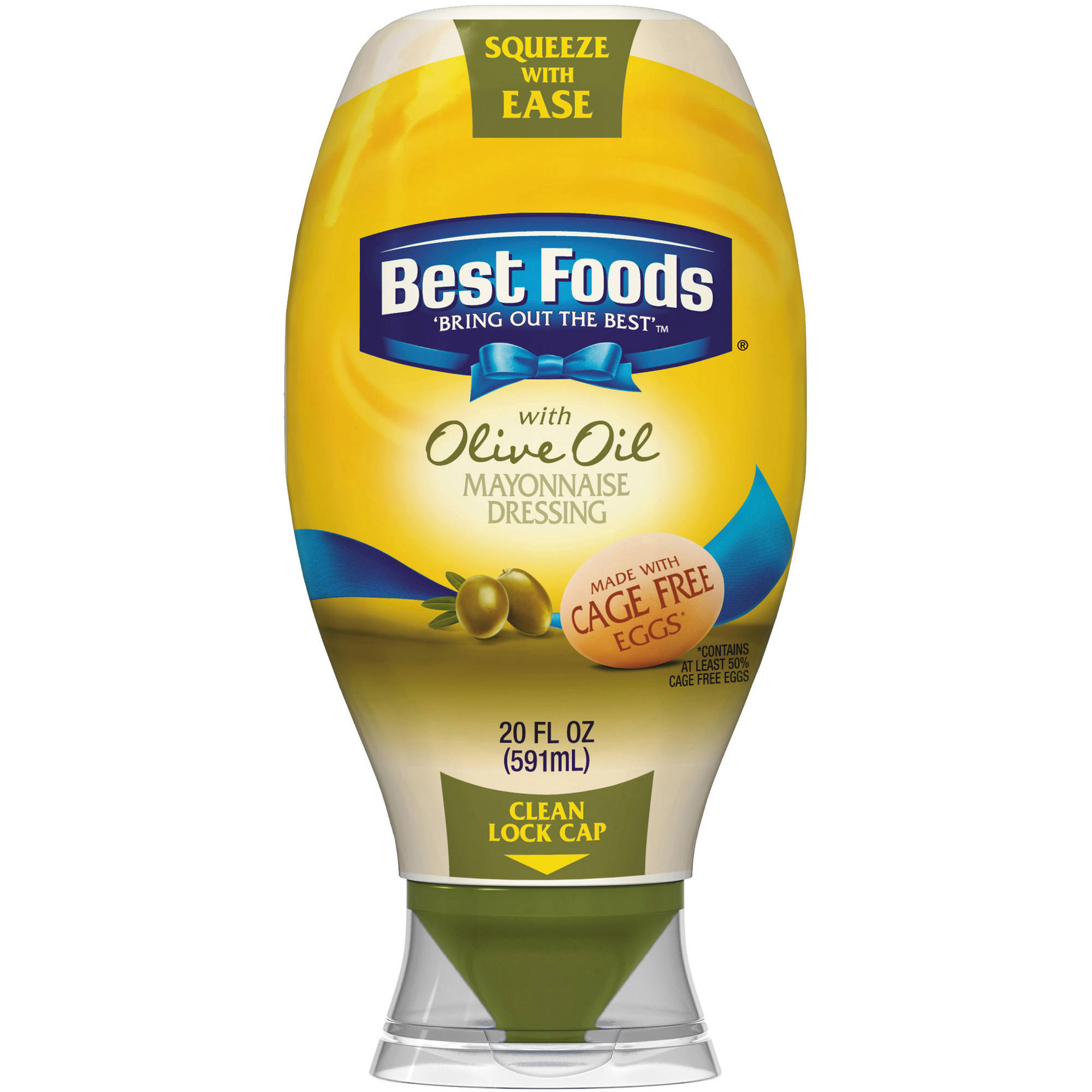 Best Foods Squeeze Mayonnaise Dressing with Olive Oil, 20 oz