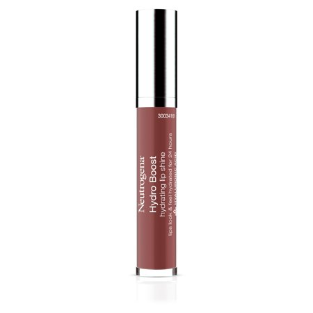 Neutrogena Hydro Boost Hydrating Lip Shine, 90 Pink Mocha 0.10 Oz