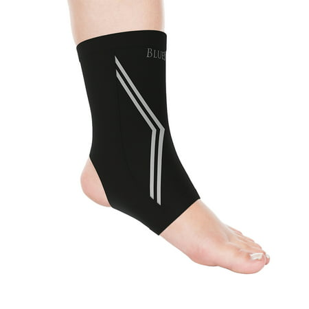 Copper Infused Ankle Support Compression Sleeve- Unisex Ankle Compress for Pain Relief, Soreness, Swelling, Recovery by Bluestone - Ankle Compression Sleeve