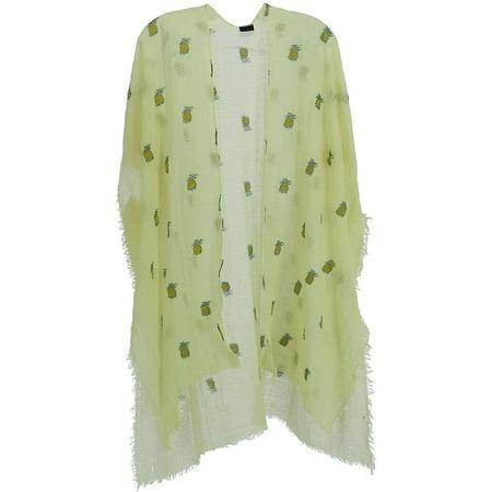 Women's Pineapple Print Kimono