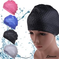 37f9e93332c Product Image Spencer Silicone Swimming Long Hair Bubble Cap Anti-slip Ear  Wrap Waterproof Swim Bath Hat