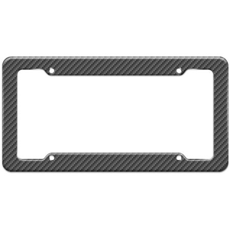 Carbon Fiber Pattern License Plate Frame