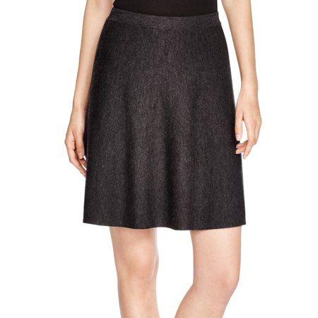 Eileen Fisher NEW Charcoal Gray Womens Size XL A-Line Wool Skirt