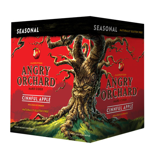 Angry Orchard Seasonal Cinnful Apple Hard Cider, 12 pack, 12 fl oz