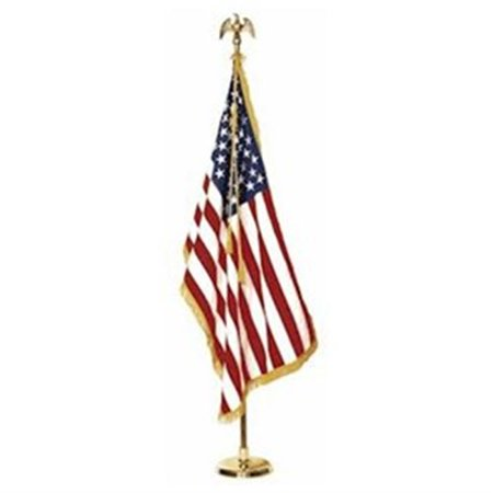 IBOT EC13315 Deluxe New 10 Feet Indoor Telescope Eagle Gold Metal Flagpole