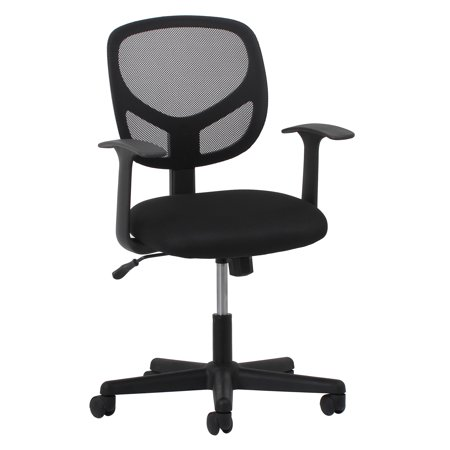 - Essentials by OFM ESS-3001 Swivel Mesh Back Task Chair with Arms, Black