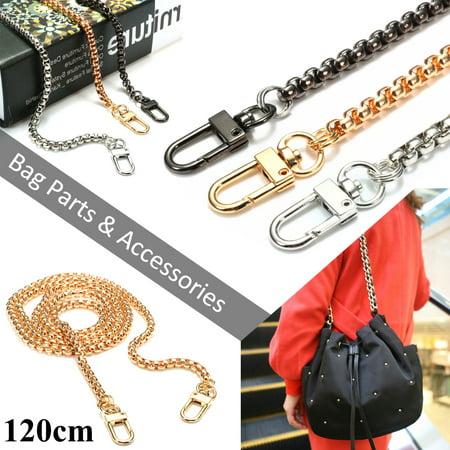 Diy Purse - Grtsunsea 47 inch Metal Chain Strap Shoulder Crossbody Bag Handbag Purse DIY Repair Replacement