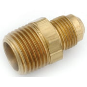 Anderson 754048-0608 Tube to Pipe Connector, 3/8 x 1/2 in, Flared x MPT, Brass