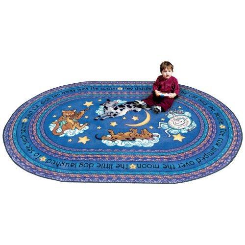 Joy Carpets Blue Hey Diddle Diddle Kids Area Rug