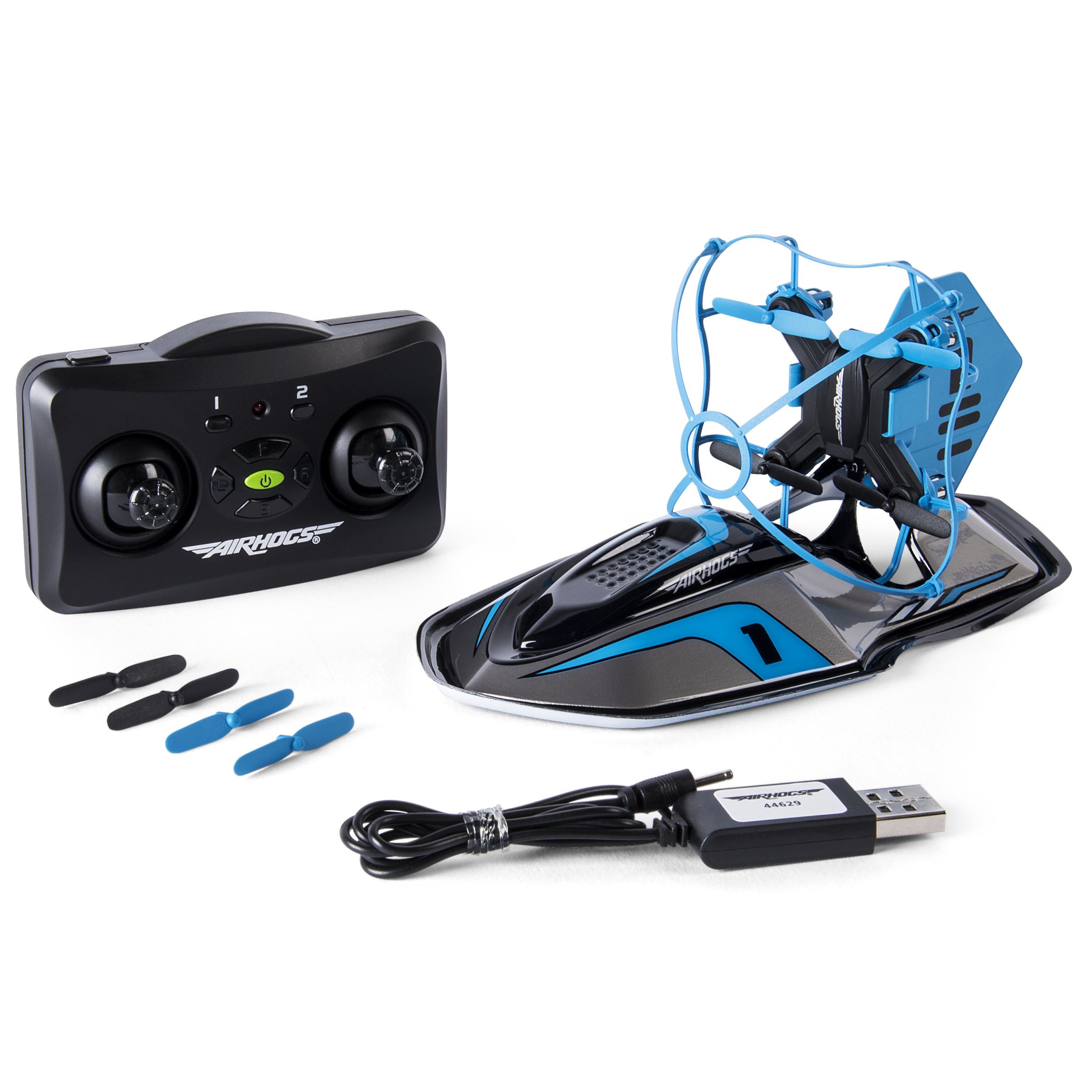 Air Hogs 2-in-1 Hyper Drift Drone for High Speed Racing and Flying, Blue