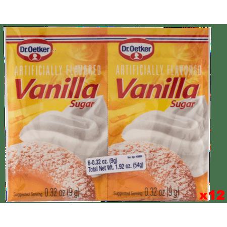- Vanilla Sugar, (Oetker) CASE 12x(6x0.32oz)54g