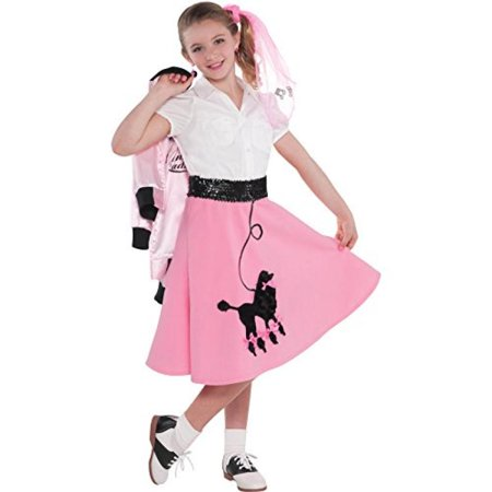 Amscan Child's Fabulous '50s Costume Party Poodle Skirt (1 Piece), 14