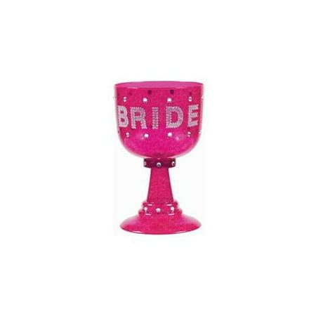 Amscan Bachelorette Bride Goblet, Hot Pink