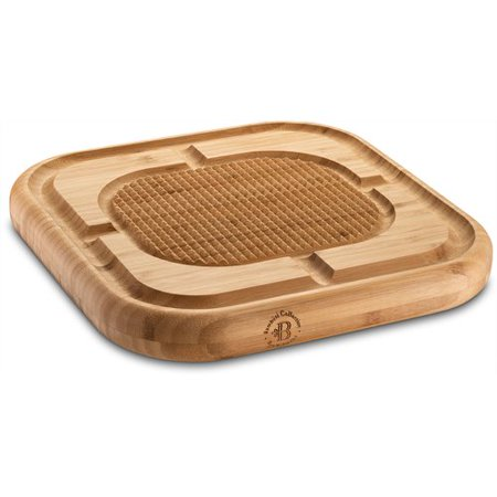 "Bambusi Carving Board with Deep Juice Groove, Bamboo Meat Cutting / Chopping Board, (13.5"" X 13.5"") ()"