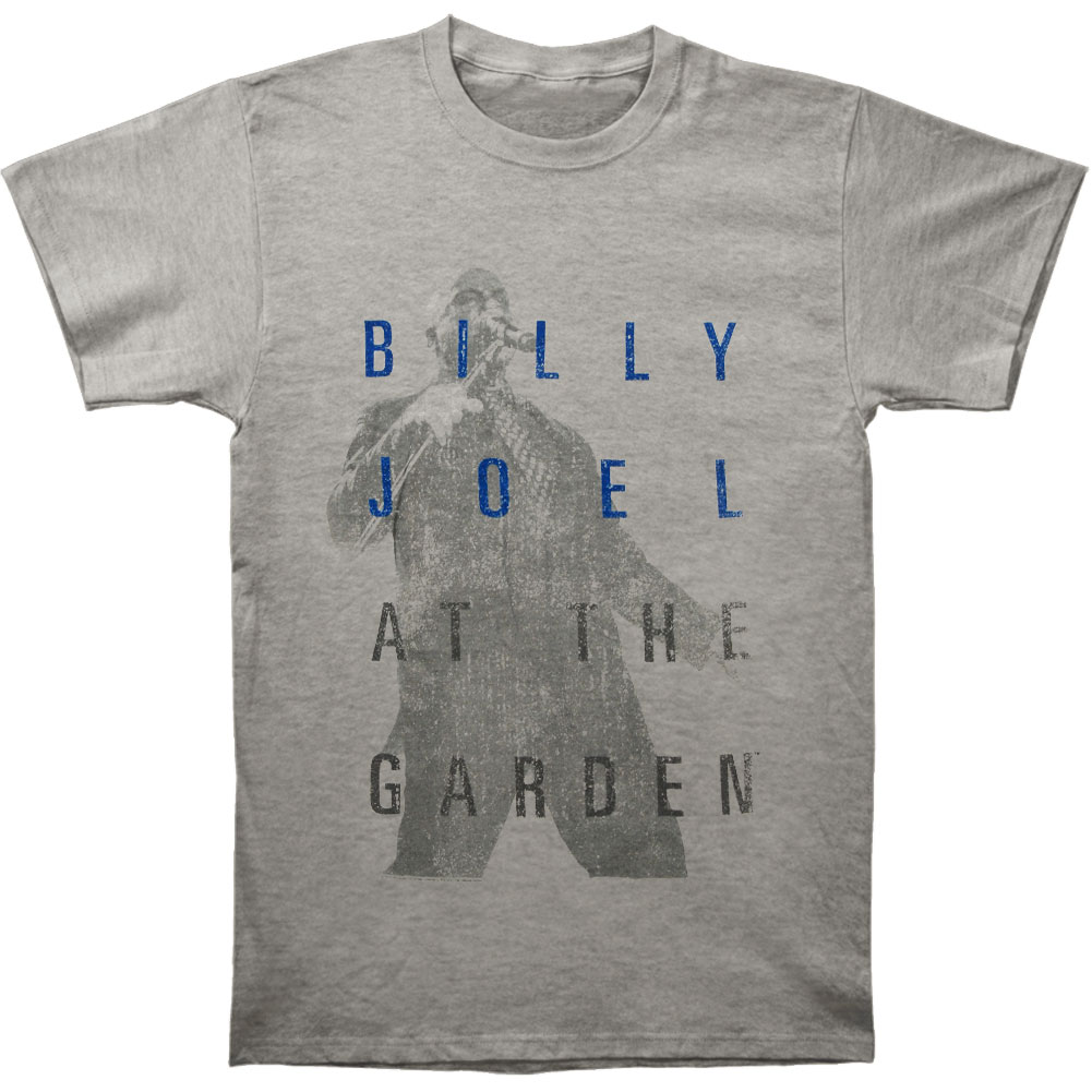 Billy Joel Men's  Madison Square Garden Line Up T-shirt Heather