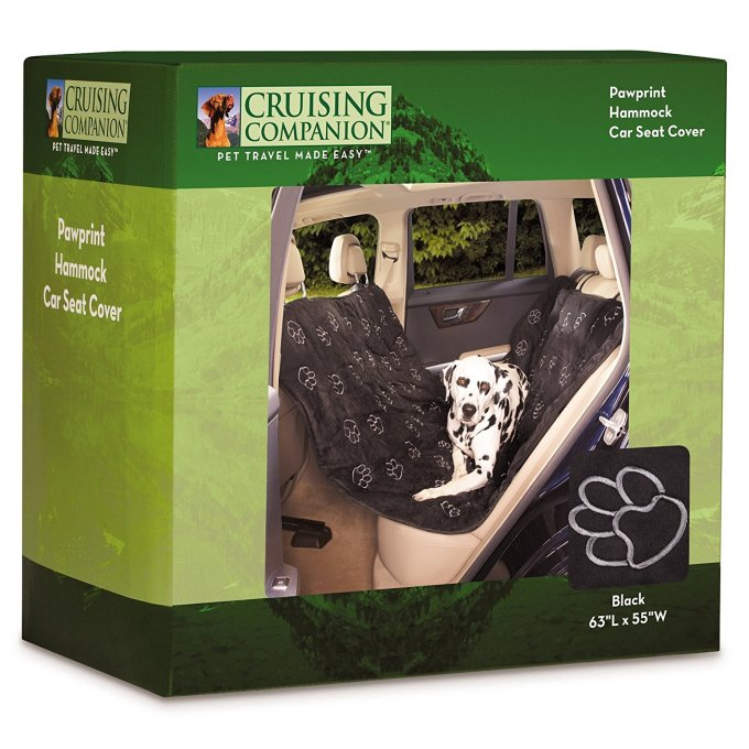 Cruising Companion Hammock Car Seat Covers - Cushioned Car Seat Covers for Dogs, Camel