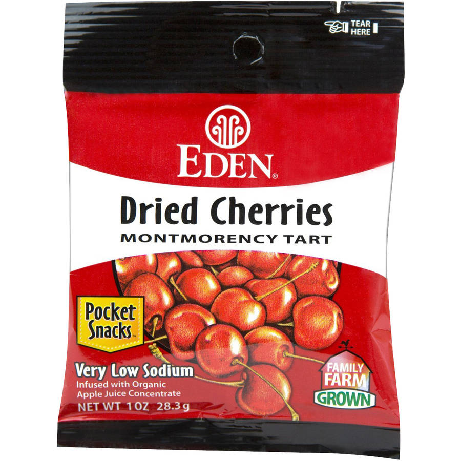 Eden Dried Montmorency Tart Cherries, 1 oz, (Pack of 12) by
