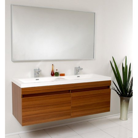 Fine Fresca Largo 56 5 In Wavy Double Sink Modern Bathroom Vanity Fvn8040Go Download Free Architecture Designs Xoliawazosbritishbridgeorg