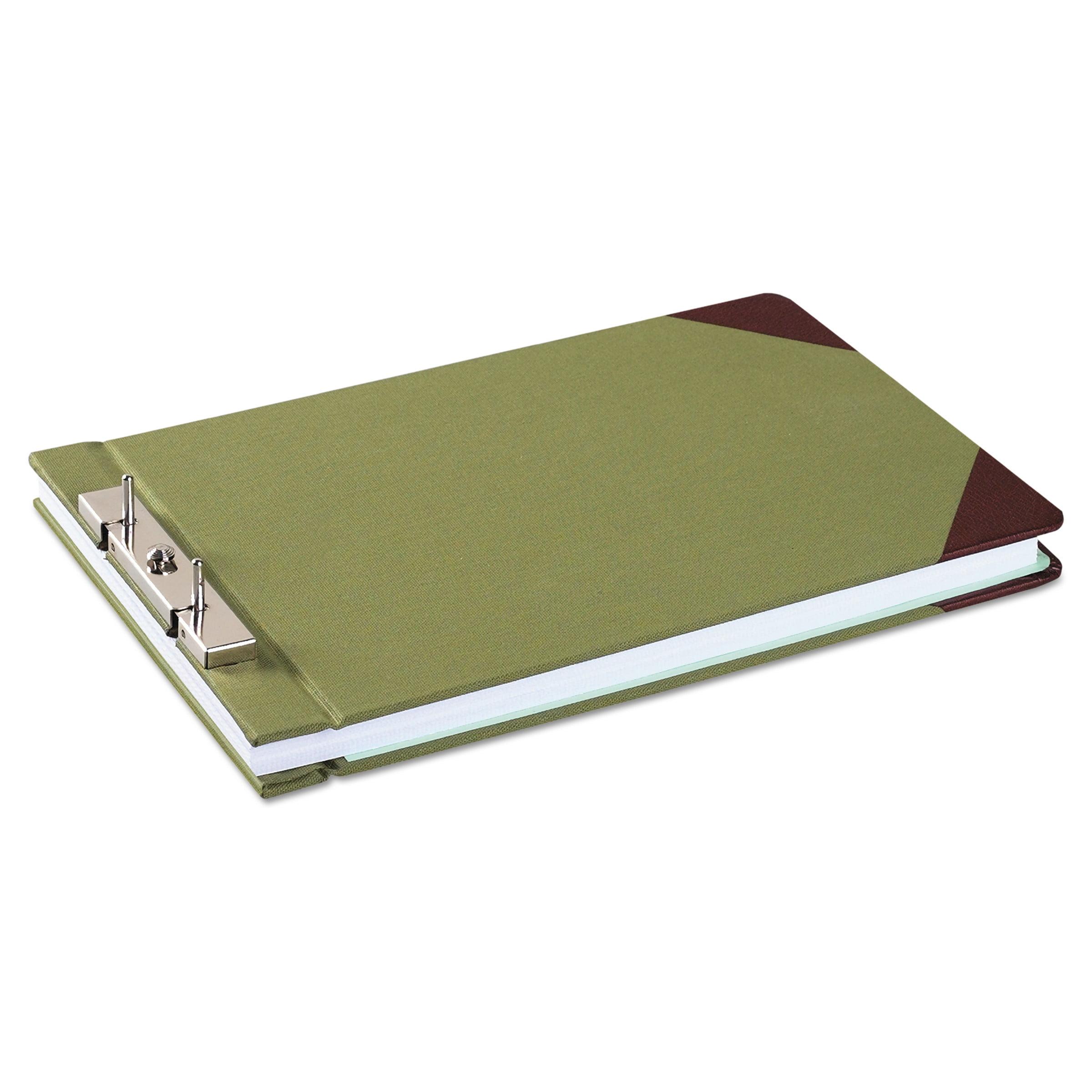 """Wilson Jones Canvas Sectional Storage Post Binder, 3"""" Cap, 8 1/2 x 14, Green"""
